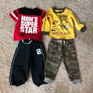 Two baby boy outfits